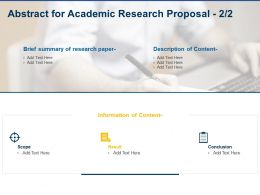 Abstract For Academic Research Proposal Ppt Powerpoint Presentation Ideas