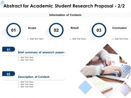 Abstract For Academic Student Research Proposal Paper Ppt Powerpoint Outline Vector
