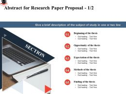 Abstract For Research Paper Proposal Expectation Ppt Powerpoint Presentation Sample