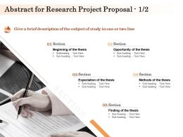 Abstract For Research Project Proposal L1581 Ppt Powerpoint Presentation Professional