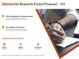 Abstract For Research Project Proposal Ppt Powerpoint Presentation Outline Example