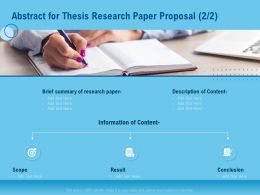 Abstract For Thesis Research Paper Proposal Content Ppt Outline