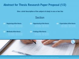 Abstract For Thesis Research Paper Proposal Section Ppt Powerpoint Model