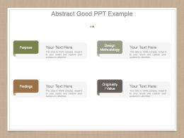Abstract Good Ppt Example