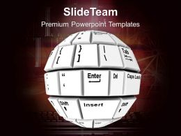 Abstract Key Board Ball Technology PowerPoint Templates PPT Themes And Graphics 0313