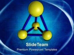 Abstract Model Of Atoms Science PowerPoint Templates PPT Themes And Graphics 0513
