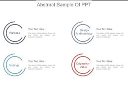 Abstract Sample Of Ppt