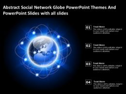 Abstract Social Network Globe Powerpoint Themes And Powerpoint Slides With All Slides