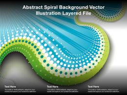 Abstract Spiral Background Vector Illustration Layered File