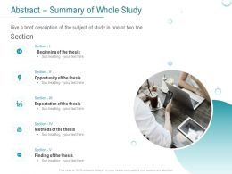 Abstract Summary Of Whole Study Opportunity Ppt Powerpoint Presentation Slides Microsoft