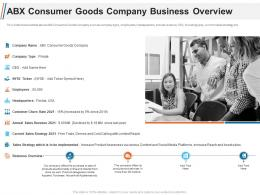 ABX Consumer Goods Company Business Overview Ppt Introduction