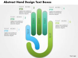 Ac Abstract Hand Design Text Boxes Powerpoint Templets