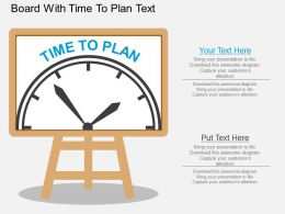 ac Board With Time To Plan Text Flat Powerpoint Design