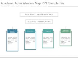 Academic Administration Map Ppt Sample File