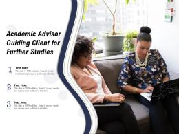 Academic Advisor Guiding Client For Further Studies
