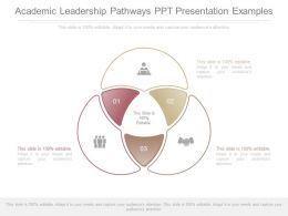 Academic Leadership Pathways Ppt Presentation Examples
