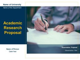 Academic Research Proposal Powerpoint Presentation Slides