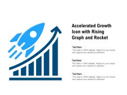 Accelerated Growth Icon With Rising Graph And Rocket