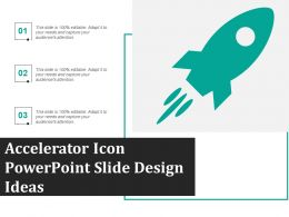 Accelerator Icon Powerpoint Slide Design Ideas