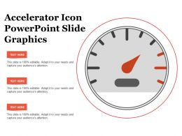 Accelerator Icon Powerpoint Slide Graphics