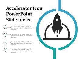 Accelerator Icon Powerpoint Slide Ideas