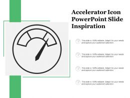 Accelerator Icon Powerpoint Slide Inspiration