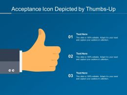 Acceptance Icon Depicted By Thumbs Up