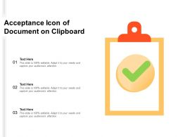 Acceptance Icon Of Document On Clipboard