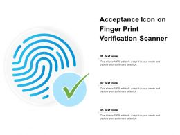 Acceptance Icon On Finger Print Verification Scanner