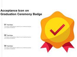 Acceptance Icon On Graduation Ceremony Badge