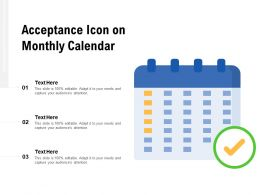 Acceptance Icon On Monthly Calendar