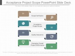Acceptance Project Scope Powerpoint Slide Deck