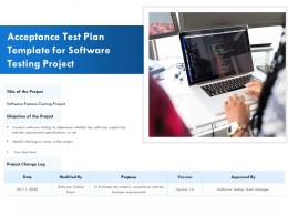 Acceptance Test Plan Template For Software Testing Project