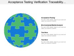Acceptance Testing Verification Traceability Confirm Business Objective