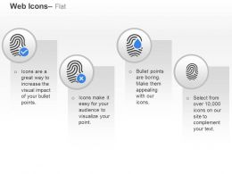 Accepted Rejected Damaged Fingerprints Ppt Icons Graphics