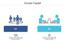 Access Capital Ppt Powerpoint Presentation Model Design Ideas Cpb