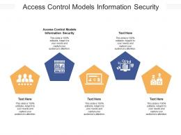 Access Control Models Information Security Ppt Powerpoint Presentation File Tips Cpb