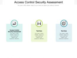 Access Control Security Assessment Ppt Powerpoint Presentation Inspiration Samples Cpb