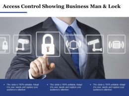 Access Control Showing Business Man And Lock