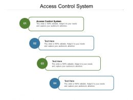 Access Control System Ppt Powerpoint Presentation Layouts Inspiration Cpb