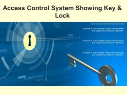 Access Control System Showing Key And Lock