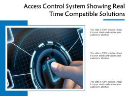 Access Control System Showing Real Time Compatible Solutions