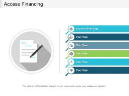 Access Financing Ppt Powerpoint Presentation File Graphics Download Cpb