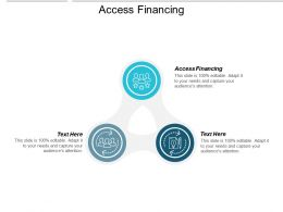 Access Financing Ppt Powerpoint Presentation Gallery Picture Cpb