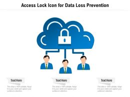 Access Lock Icon For Data Loss Prevention