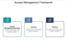 Access Management Framework Ppt Powerpoint Presentation Infographic Template Cpb