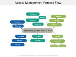 Access Management Process Flow Ppt Powerpoint Presentation Infographic Template Smartart Cpb