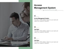 Access Management System Ppt Powerpoint Presentation Summary Vector Cpb