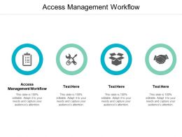 Access Management Workflow Ppt Powerpoint Presentation Layouts Guide Cpb