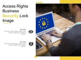 Access Rights Business Security Lock Image